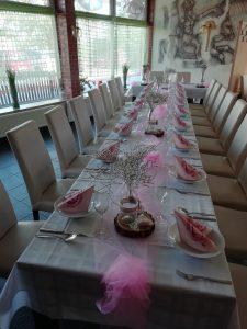 Svatební tabule - růžová